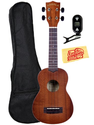 Kala MKA-S Limited Edition Makala-Style Soprano Ukulele Bundle with Gig Bag, Tuner, and Polishing Cloth