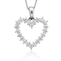Heart Shaped Diamond Necklaces for Women via @Flashissue