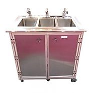 All Stainless Steel 3 Basin Utensil Washing Portable Sink Model: NS-003SS