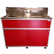 Commercial Three Bowl Sink Model: PSE-2003SD