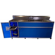 Large Commercial Four Deep Basin Portable Sink Model: PSE-2004LA