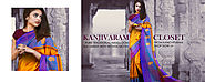 Traditional Pure Kanchi Cotton Sarees for Online Shopping