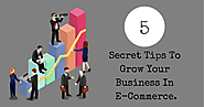 5 Secret Tips To Grow Your Business In E-Commerce. - SEO Advanced Techniques