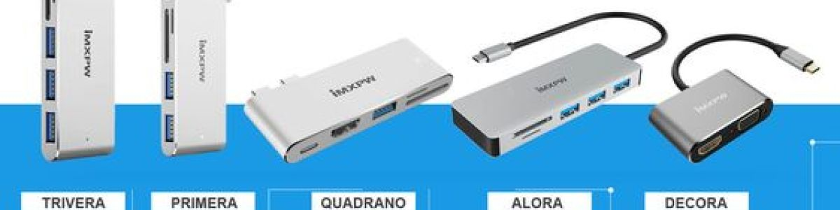 Headline for iMXPW - USB C HUB, MULTIPORT Hdmi Adapter, Card Reader for MacBook Pro