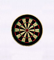 Classic Red and Green Dartboard Embroidery Design | EMBMall
