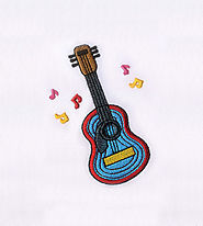 Colorfully in Tune Guitar Embroidery Design | EMBMall