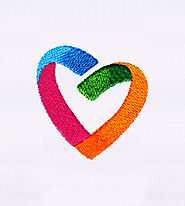 Colorfully Creative Heart Embroidery Design | EMBMall