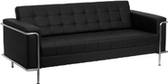 Amazon.com - Flash Furniture ZB-LESLEY-8090-SOFA-BK-GG Hercules Lesley Series Contemporary Black Leather Sofa with En...