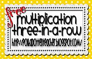 Multiplication Three in a Row