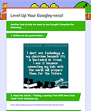 Leveling Up Our Googley-ness Professional Development