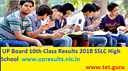 UP Board 10th Class Results 2018 Imp SSLC High Schools Areas www.upresults.nic.in
