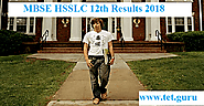 MBSE HSSLC Result 2018 Complete Marks 12th Class | India Results Mizoram Board
