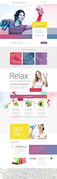 Marsy's Cleaning WordPress Theme Business & Services Maintenance Services Template Cleaning Template