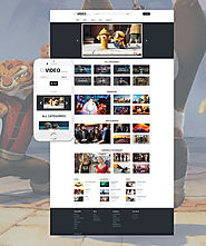 Video Records WordPress Theme Business & Services Media Video Gallery Template