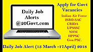 Recruitment News | Daily Job Alert 13 March - 17 April 2018