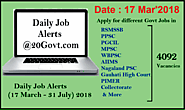 4092 Govt Jobs Today | Daily Job Alerts 17 March - 31 July 2018 ~ Daily Job Alerts for Latest Employment News for 10t...
