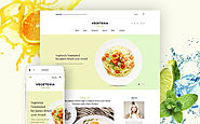 Vegetarian Restaurant Blog WordPress Theme Food & Restaurant Cafe and Restaurant Vegetarian Restaurant Template
