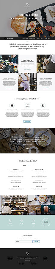 European Restaurant Responsive WordPress Theme Food & Restaurant Cafe and Restaurant Template