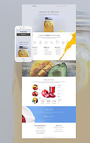 Frutti Bar WordPress Theme Food & Restaurant Cafe Cocktail Bar Template