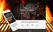 Red Hot Grill Restaurant WordPress Theme Food & Restaurant Cafe BBQ Restaurant Template