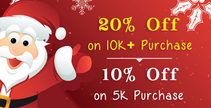 Headline for Christmas Day offer – Buy any list of above 5K, 10k and Get 10% to 20% Discount on Purchase made