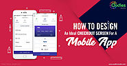Mobile Checkout Screen For e-Commerce Mobile App Design