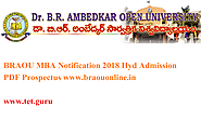 BRAOU MBA Notification 2018 Hyd Admission PDF Prospectus www.braouonline.in