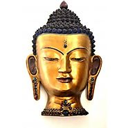 Website at https://www.craftvatika.com/elegant-golden-buddha-shakyamuni-head-bust-wall-hanging.html