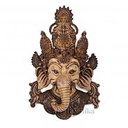 Website at https://www.craftvatika.com/vintage-style-handmade-ganesha-the-elephant-lord-wall-mask.html