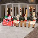 16 Ft Colossal Inflatable Lighted Santa in Sleigh with Reindeers