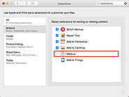 Mac: Enable Markup Extension in Supporting Apps