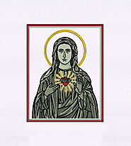 Religiously Poignant Virgin Mary Embroidery Design | EMBMall