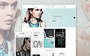 Turquoise Website Template Fashion & Beauty Jewelry Template