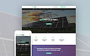 Environmental Biotechnology Website Business & Services Environmental Solar Energy Template