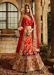 Buy Designer Wedding Lehenga – Rajwada Sarees
