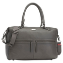 Storksak Caroline Leather Changing Bag, Grey