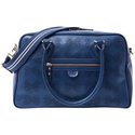 Pink Lining Grace Leather Bows Changing Bag, Navy