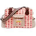 Pink Lining Yummy Mummy Changing Bag, Red Butterflies