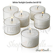 White Unscented Tealight Candles With Clear Cups Burn 8 Hour– Tealight Candles