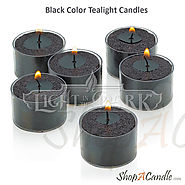 Buy Black Tealight Candles Online Wholesale At Shopacandle