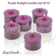Tealight Candles | Purple Tealight Candles In Cups | Shopacandle