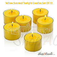 Shop Yellow Scented Tealight Candles Set Of 72 At Shopacandle