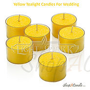 Yellow Tealight Candles Scented Set For Wedding - Shopacandle