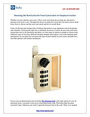 PPT - Choosing the best locks for your gym locker and Employee Locker PowerPoint Presentation - ID:7821329