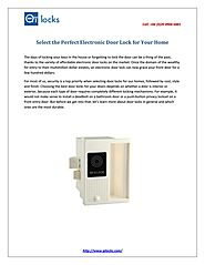 Select the perfect electronic door lock for your home by qilocks - issuu