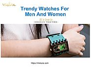 Trendy wooden watches for men and women