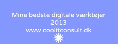 Headline for Digitale værktøjer 2013