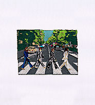 Iconic Abbey Road Album Cover Beatles Embroidery Design | EMBMall