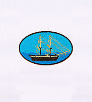 Luxury Ship Sailing Scenery Embroidery Design | EMBMall