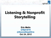 Listening & Nonprofit Storytelling